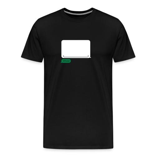 SMS Whale on - Mannen Premium T-shirt