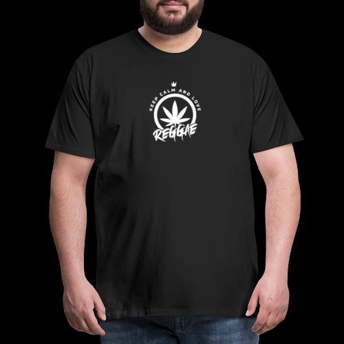 KEEP CALM LOVE REGGAE 000 - Men's Premium T-Shirt