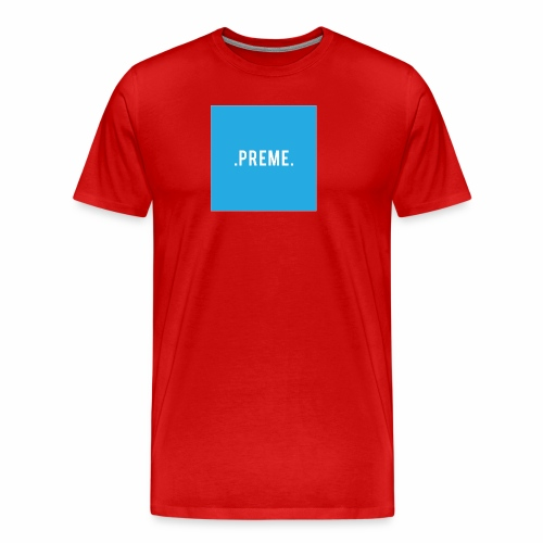 preme box logo blue png - Men's Premium T-Shirt