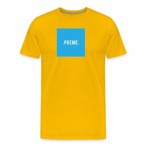 preme box logo blue png - Men's Premium T-Shirt