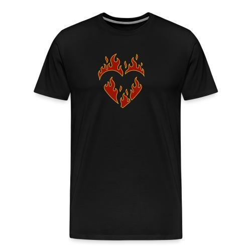Brennendes Herz - Männer Premium T-Shirt