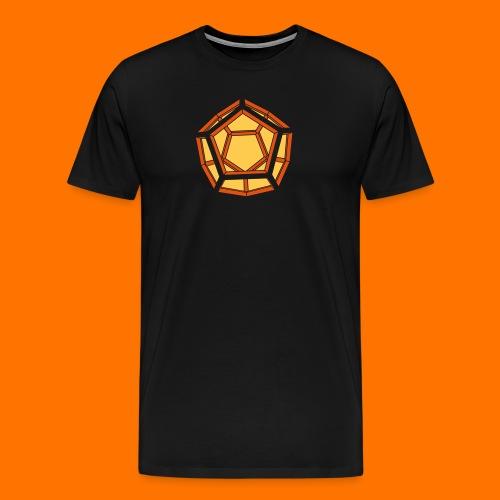 Dodekaeder 3D - Männer Premium T-Shirt