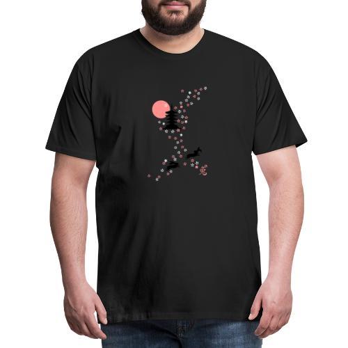Kirschblüten Häschen hase bunny kaninchen langohr - Männer Premium T-Shirt