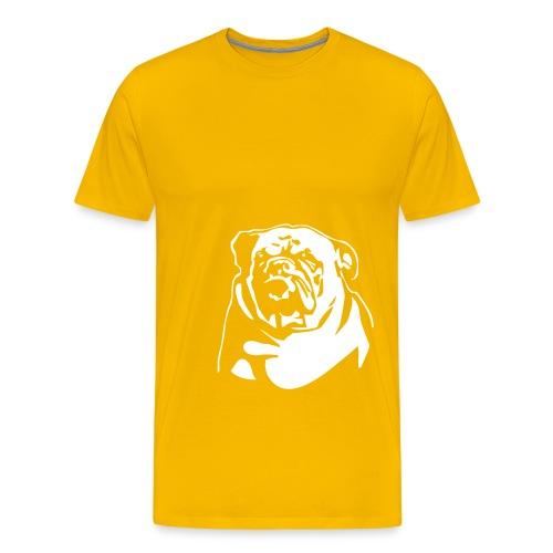 English Bulldog - negative - Miesten premium t-paita