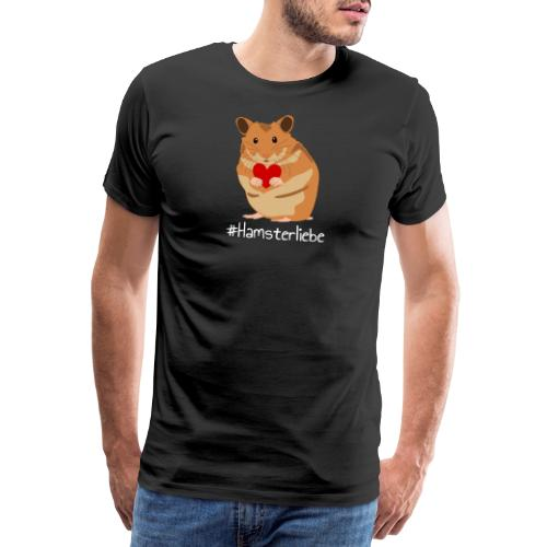 Hamsterliebe - Hamster mit Herz - Haustier - Männer Premium T-Shirt