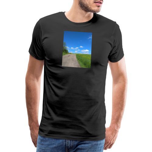 Landschaft Weg Himmel Geschenidee - Männer Premium T-Shirt