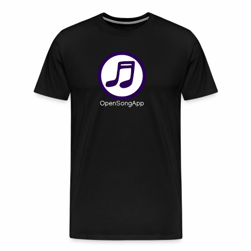 OpenSongApp Round Text - Men's Premium T-Shirt