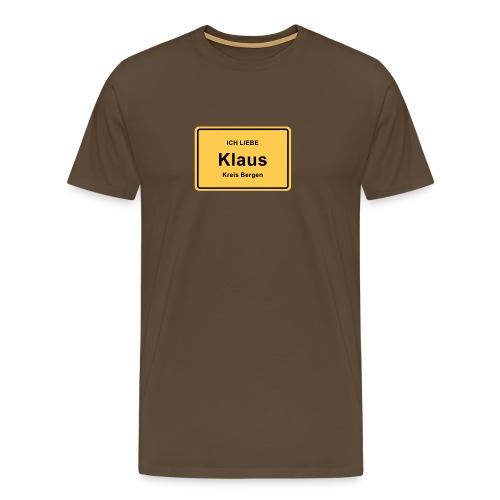Ortsschild Klaus - Männer Premium T-Shirt