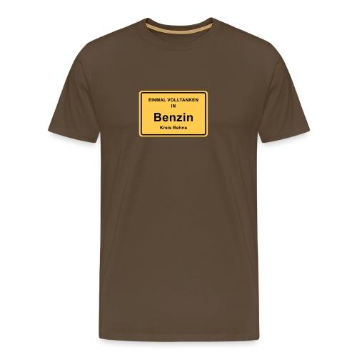 Ortsschild Benzin - Männer Premium T-Shirt