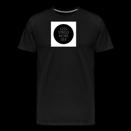 less stress more sex quote 1 jpg - Herre premium T-shirt