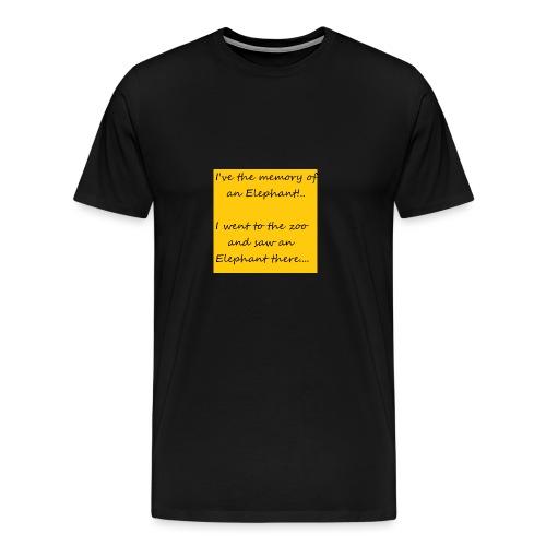 Memory Elephant - Men's Premium T-Shirt