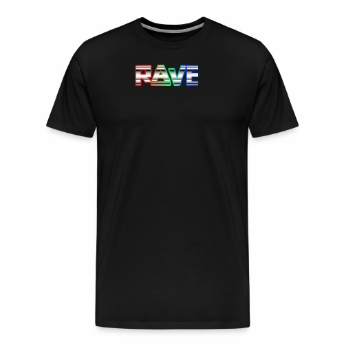 Rave Neon Rainbow Psy Text Techno Family - Männer Premium T-Shirt