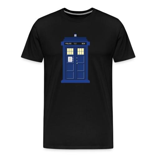 Tardis print Doctor Who - Men's Premium T-Shirt