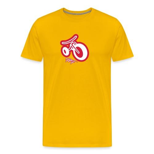 3cycle red white - Maglietta Premium da uomo