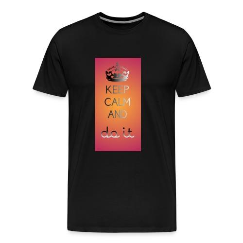 Keep calm and do it enjoy - Männer Premium T-Shirt
