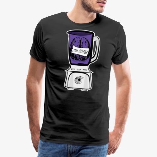 Hirn im Mixer_ lila - Männer Premium T-Shirt
