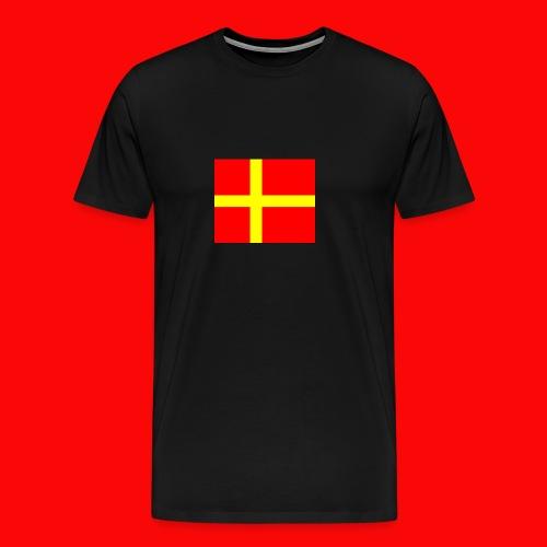 skanes flagga - Premium-T-shirt herr