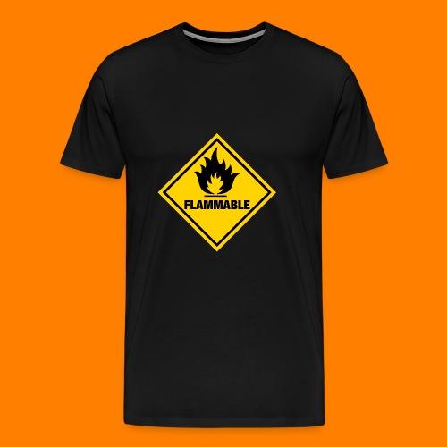 flammable - Men's Premium T-Shirt