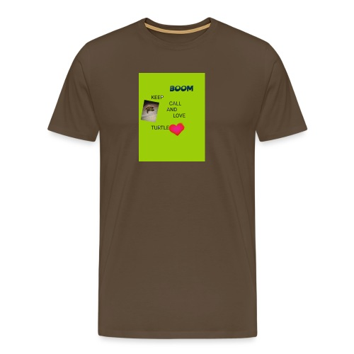 Keep call and love turtle - Miesten premium t-paita