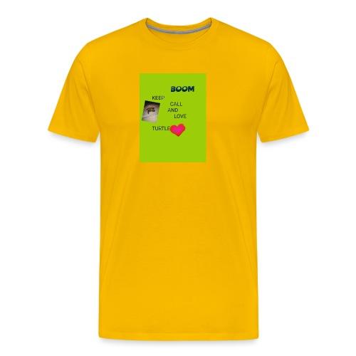 Keep call and love turtle - Miesten premium t-paita