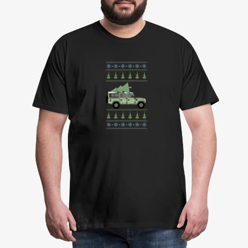 Defender 110 - Christmas Tree - Premium-T-shirt herr
