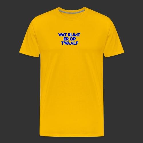 wat rijmt er op twaalf - Mannen Premium T-shirt
