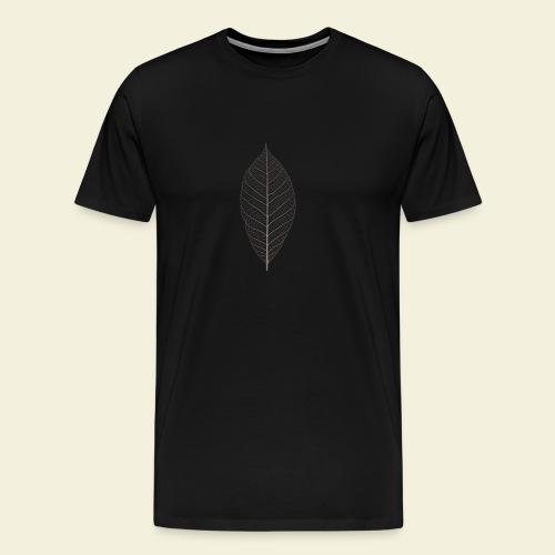 Feuille marron Squelette - T-shirt Premium Homme