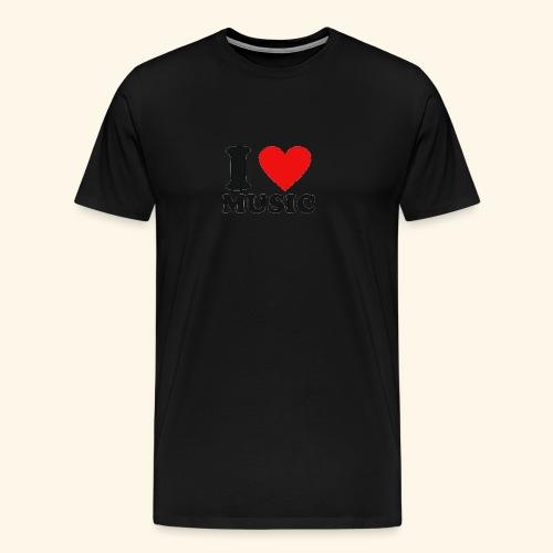 i love music - Men's Premium T-Shirt