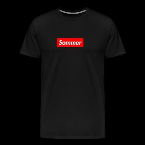 Sommer Logo - Premium T-skjorte for menn
