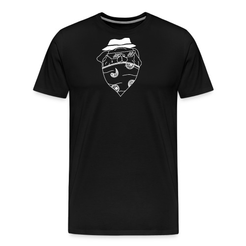 Pølsa The Thug / Pug Thug - Premium T-skjorte for menn