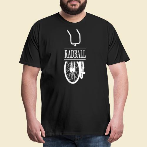 Radball | Retro White - Männer Premium T-Shirt