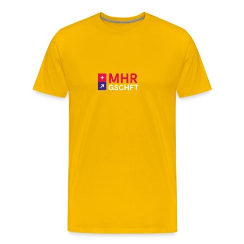 MHR GSCHFT mit Logo - Männer Premium T-Shirt