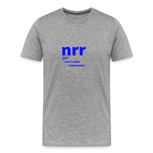 NEARER logo - Men's Premium T-Shirt