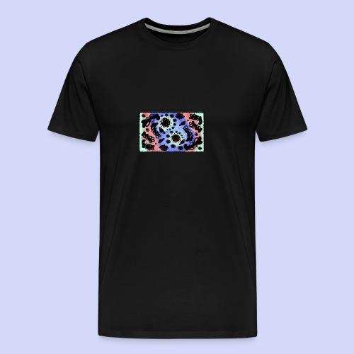 Pastel Rainbow Doodle - Female shirt - Herre premium T-shirt