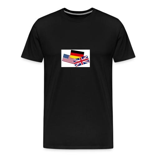 Englisch_Deutsch_Unterhaltung_Prod - Männer Premium T-Shirt