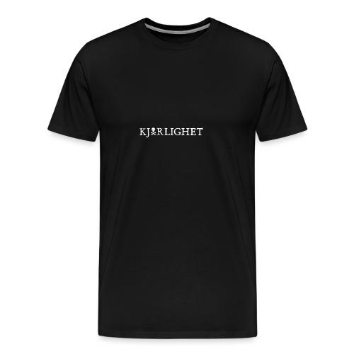 Kjærlighet (Love)   White text - Premium T-skjorte for menn