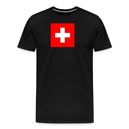 Flag_of_Switzerland - Männer Premium T-Shirt
