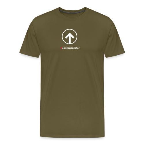 Conversionator mit Pfeil (weiß) - Männer Premium T-Shirt