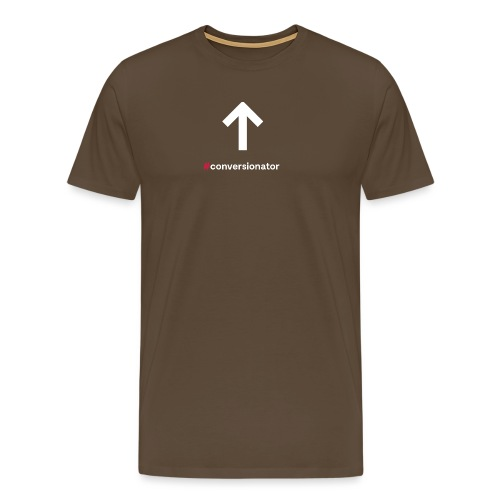 Conversionator mit Pfeil ohne Kreis - Männer Premium T-Shirt