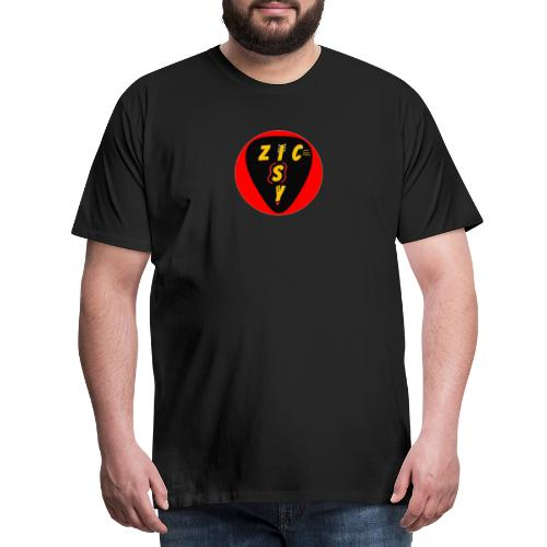 Zic izy rond rouge - T-shirt Premium Homme