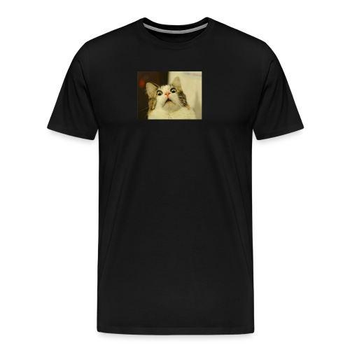 Le chat impressioné - T-shirt Premium Homme