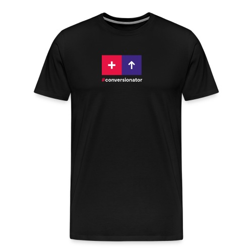 Conversionator mit Plus & Pfeil - Männer Premium T-Shirt