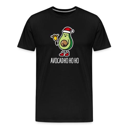 Avocad ho ho ho avocado Santa Claus pun keto diet - Men's Premium T-Shirt