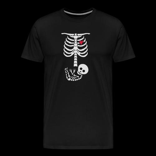 Baby Skelett Schwangerschafts Shirt - Männer Premium T-Shirt