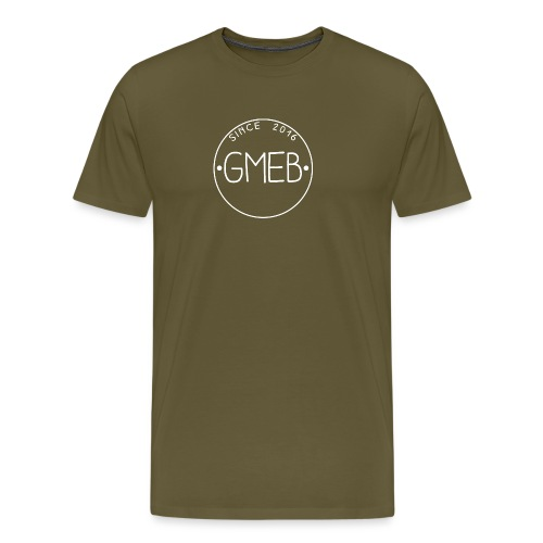 doorschijnend LOGO WIT - Mannen Premium T-shirt