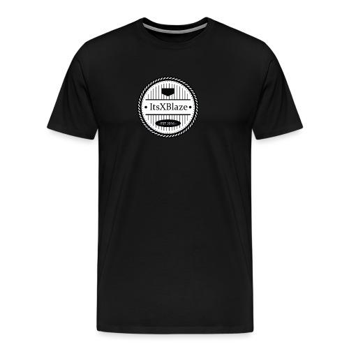 ItsXBlaze Logo 3 V-Neck Option 2 - Mannen Premium T-shirt