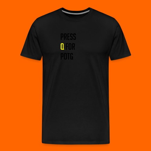 Press Q for play of the game - Men's Premium T-Shirt