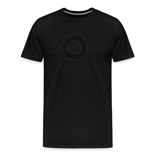 CALLIGRAPHY-CIRCLE - Maglietta Premium da uomo