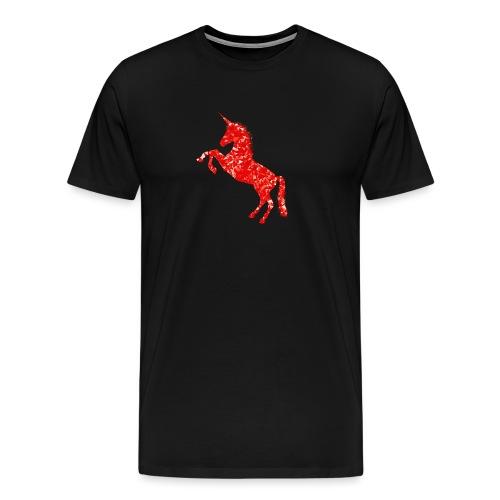 unicorn red - Koszulka męska Premium