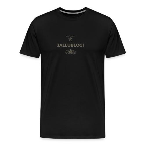 Jallublogi muki valkoinen - Miesten premium t-paita